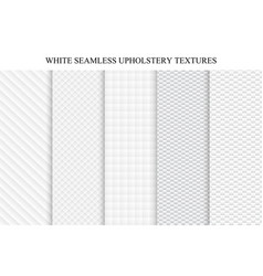 collection seamless white decorative textures vector image
