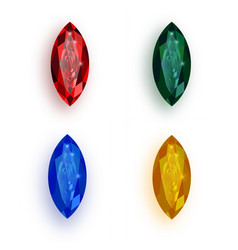 colorful gemstones collection - eps10 vector image