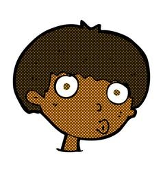 comic cartoon surprised boy vector image