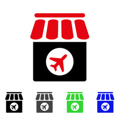 Duty free shop flat icon vector
