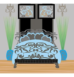 elegant bedroom vector image