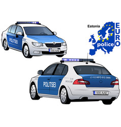 estonia police car vector image
