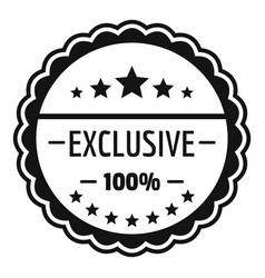 Exclusive logo simple style vector