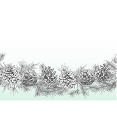 festivev background template with seamless pattern vector image