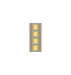 Film strip computer symbol vector image