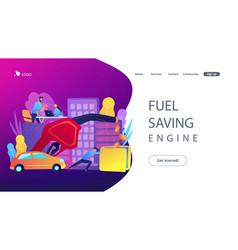 fuel saving engine landing page vector image