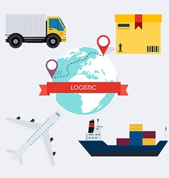 global logistic infographics elements flat vector image