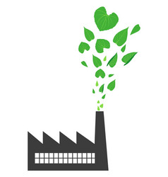 go green factory vector image