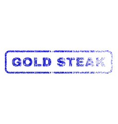 Gold steak rubber stamp vector