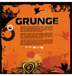 Grunge background with birds vector