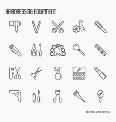 hairdressing equipment hair salon vector image