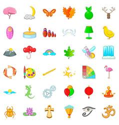 Harmony icons set cartoon style vector