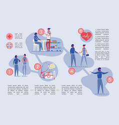 healthcare and medical insurance infographic set vector image