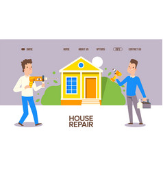 House repair stuff with special tool vector