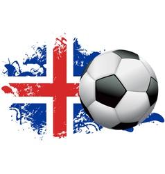 Iceland Soccer Grunge vector