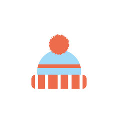 Isolated hat icon flat design vector