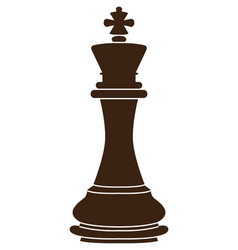 Isolated king piece vector