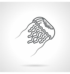 Jellyfish black line icon vector image