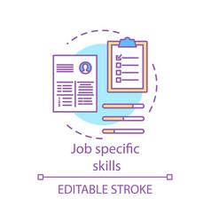 job specific skills concept icon vector image