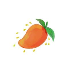 Juicy Mango Fruit Watercolor vector