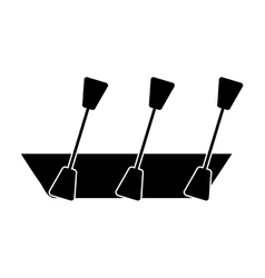 kayak isolated icon design vector image