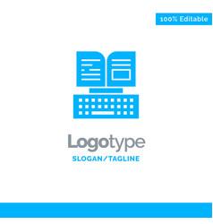 Key keyboard book facebook blue business logo vector