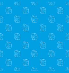kids school bag pattern seamless blue vector image