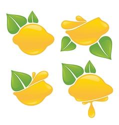 Lemon stickers vector