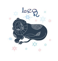 Leo horoscope sign vector image