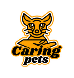 Logo on the subject of caring for pets kitten vector