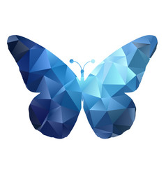 Low poly butterfly design 0105 vector