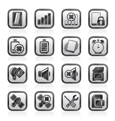 Mobile Phone sign icons vector