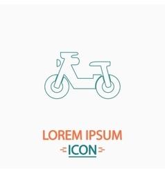 Motorcycle computer symbol vector
