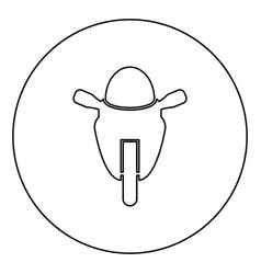 Motorcycle sport type race class icon in circle vector