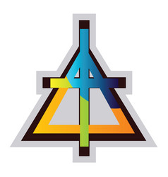 multicolor symbol a christian reformed church vector image