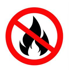 no fire sing icon vector image