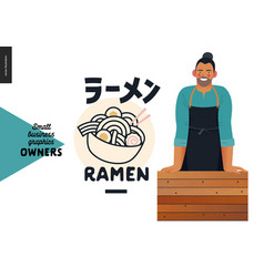 Owners - small business graphics - ramen vector