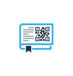 Page barcode logo icon design vector