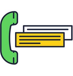 phone message exchange line flat icon vector image
