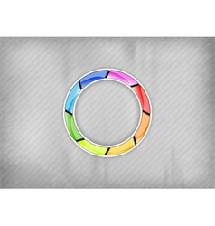 rainbow circle vector image