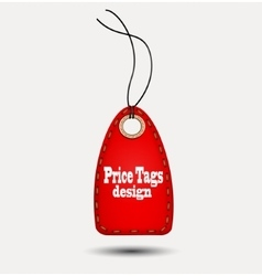 Red price-tag vector image