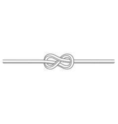 Rope flemish knot vector