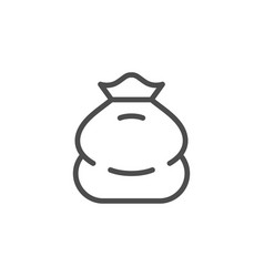 Sack line icon vector