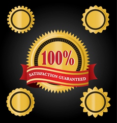 satisfaction guarantee ribbons vector image