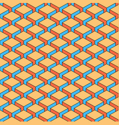 Seamless pattern with 3-d effect cubes in vector