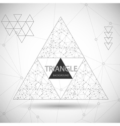 Set of Abstract triangle background banners vector image