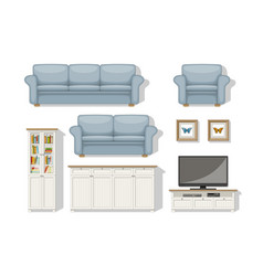 set of classical living room furniture vector image