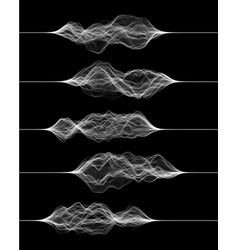 Set sound waves made lines vector