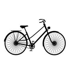 Silhouette of vintage bicycle in black design vector