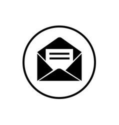 Social network message icon vector